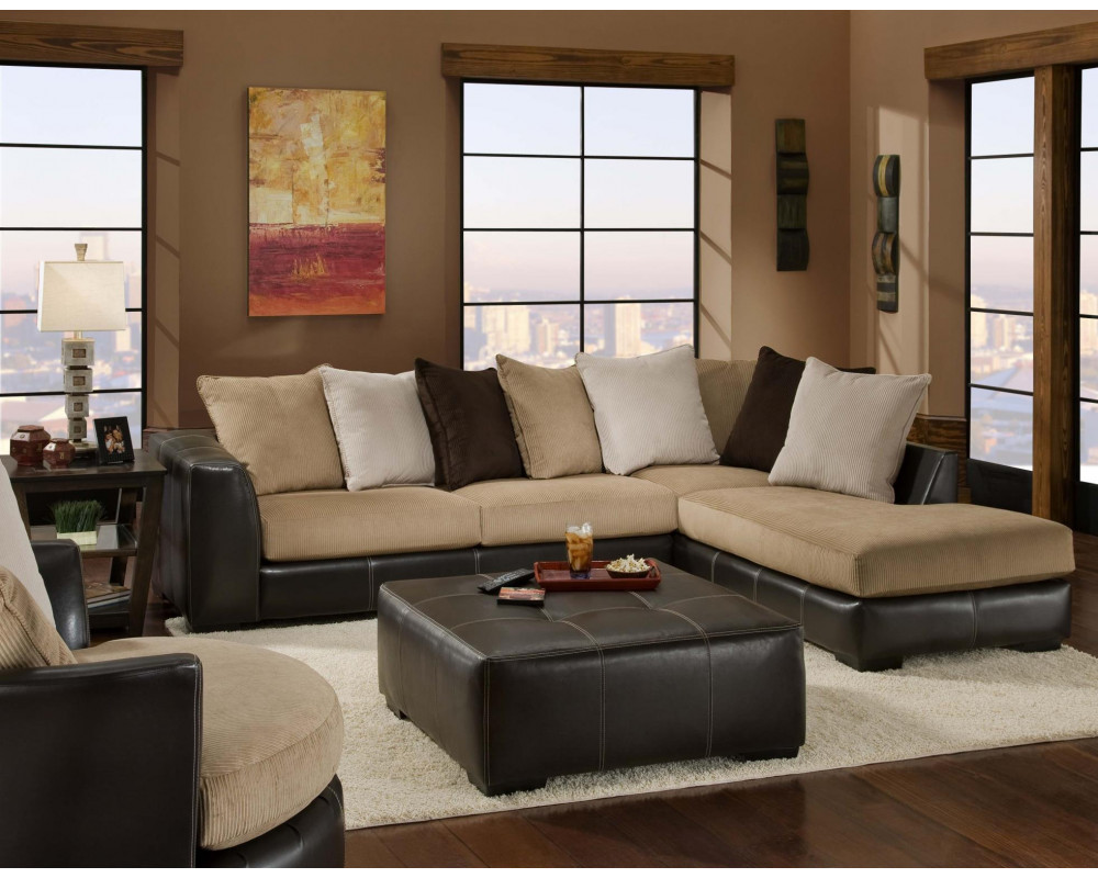 Marvelous Good Deal Charlie Inc San Marino Mocha Sectional Living Room Machost Co Dining Chair Design Ideas Machostcouk
