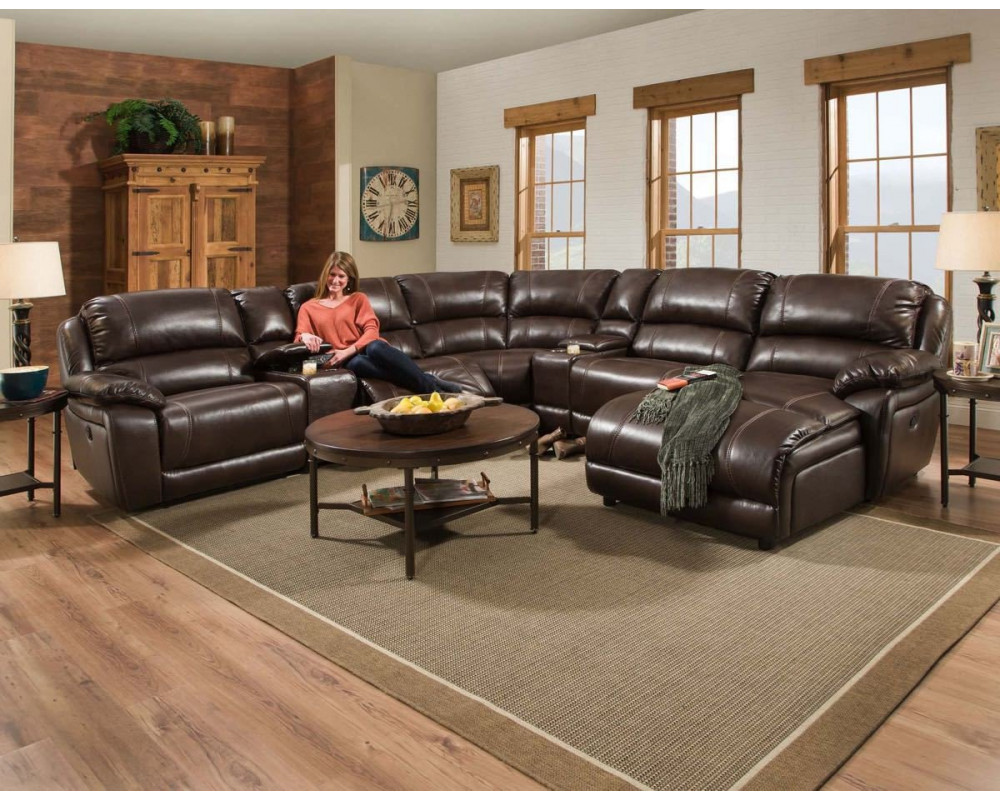 Faulkner Chocolate Large Reclining Sectional