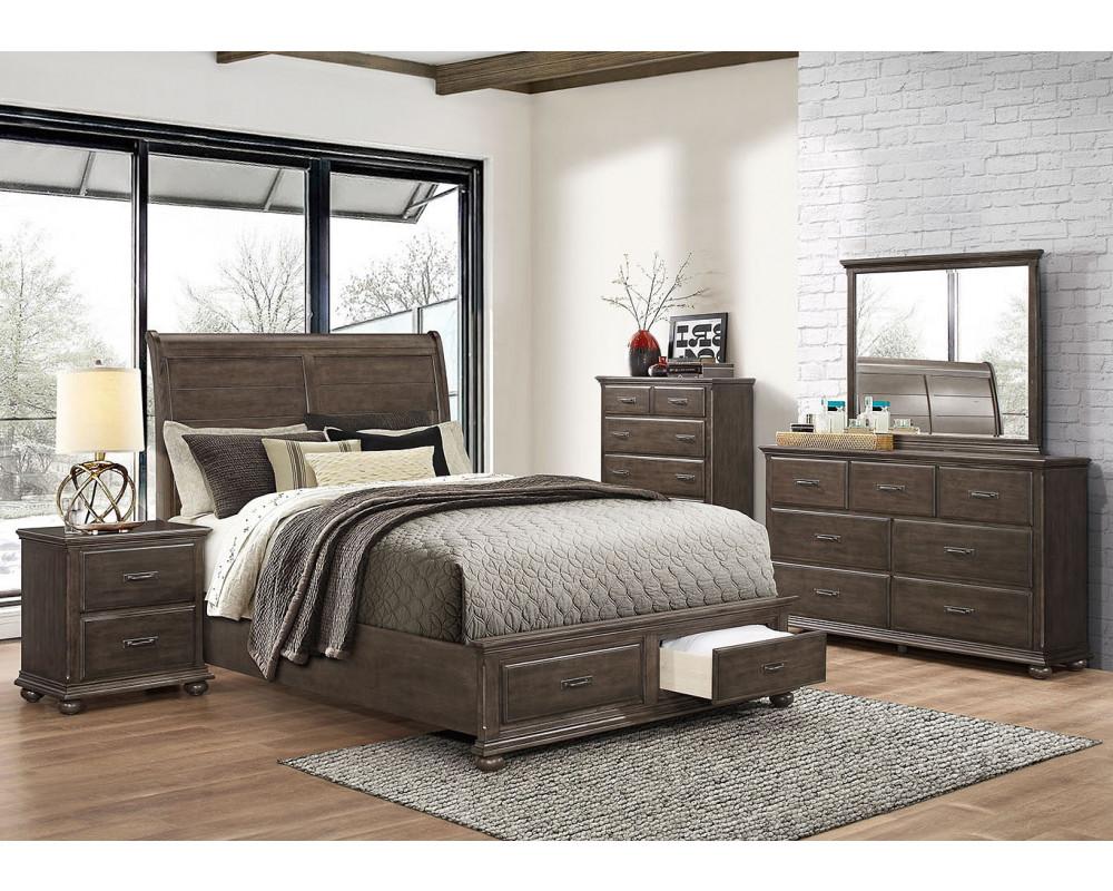 Grayson King Bed, Dresser, Mirror, & Nightstand