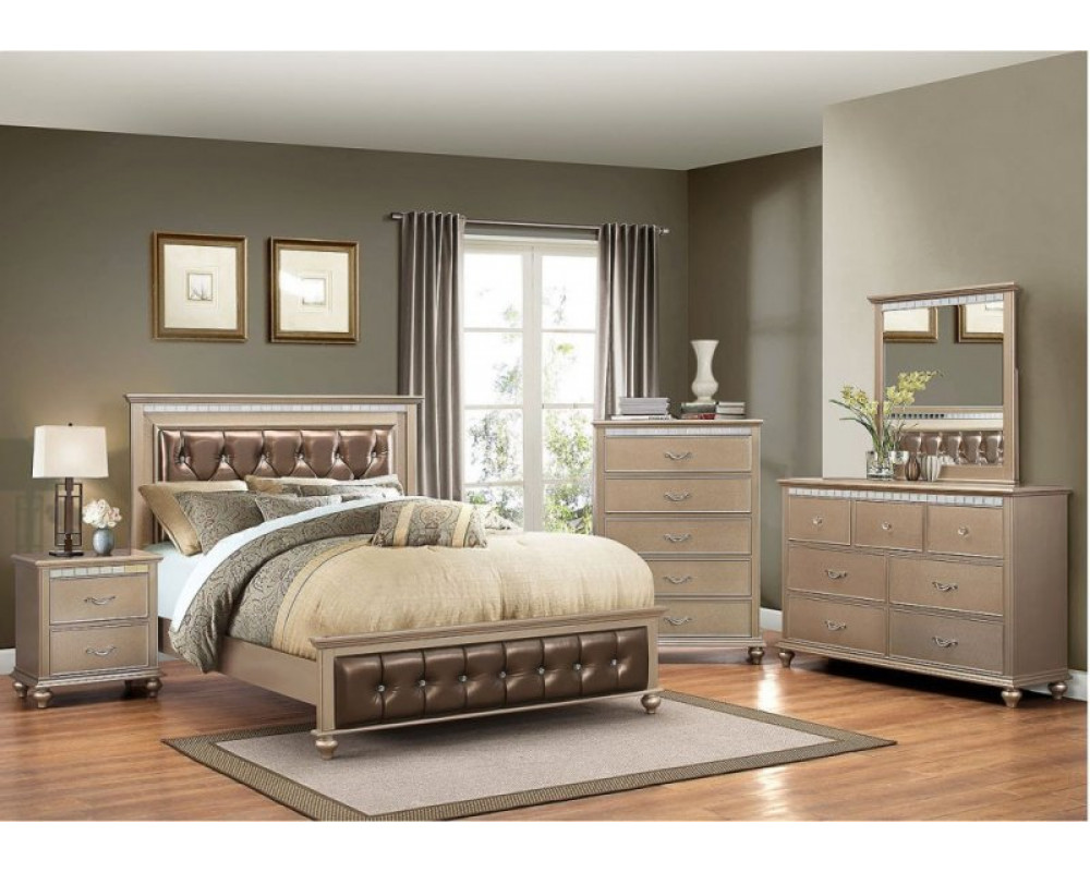 Good Deal Charlie Inc Hollywood Champagne King Bed