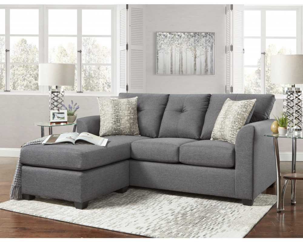 Good Deal Charlie Inc Kelly Gray Sofa Chaise Living Room