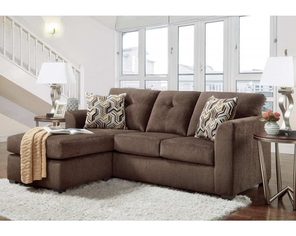 Good Deal Charlie Inc Kelly Chocolate Sofa Chaise