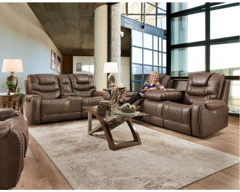 Desert Chocolate Recliner Sofa & Console Loveseat
