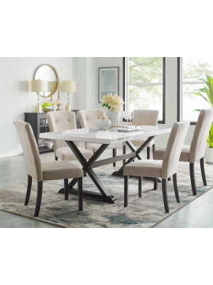 Lexi Marble Table & 6 Chairs