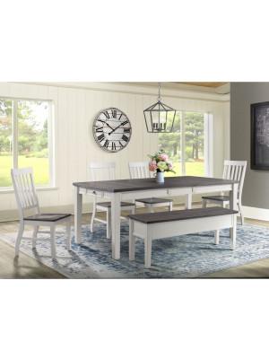 Kayla Counter Height Table, 4 Barstools, & Bench